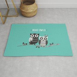 Boho Owls Rug