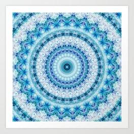 Bouncing Off Of Clouds Kaleidoscope Art Print