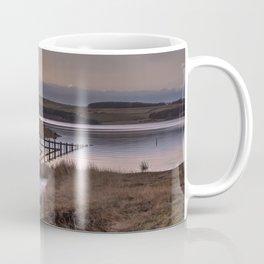 Still waters at the Derwent Reservoir at sunset Coffee Mug