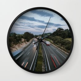 Traffic in motion Wall Clock