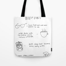 How to be an accidental hipster Tote Bag