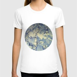 Shadows in Blue and Cream, Marble T-shirt