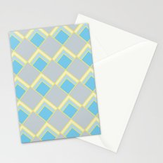 Diamond Art Deco; - Blue Stationery Cards