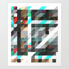 Digitally Textured Art Print