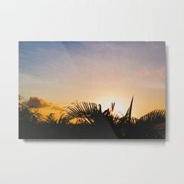 St. Lucia Sunset Metal Print