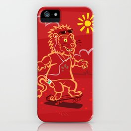 skateboarding Lion iPhone Case