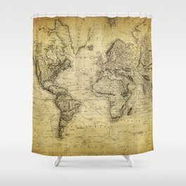 World Map 1814 Shower Curtain