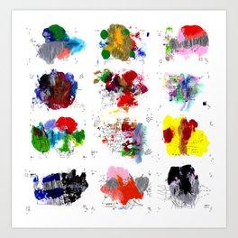12 daily rituals Art Print