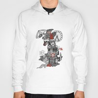 england Hoodies featuring England Doodle by Rebecca Bear