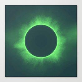 Solar Eclipse in Calcite Colors Canvas Print