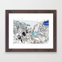 KUU cafe Framed Art Print
