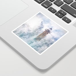 Storm in the lighthouse Sticker