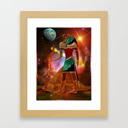 Ancient Secrets THOTH 3D Scifi Egyptian Framed Art Print