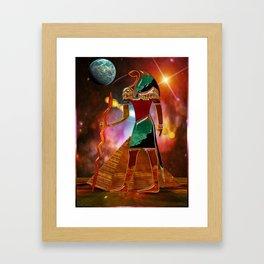 Ancient Secrets THOTH 3D Scifi Egyptian Framed Art Print
