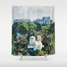 Erice art 7 Shower Curtain