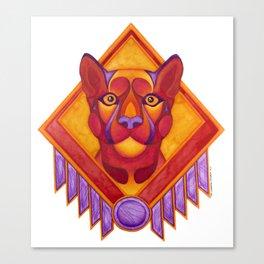 Fire Cougar Canvas Print