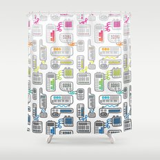 Electronica Shower Curtain