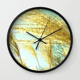 Plants in the sun Wall Clock