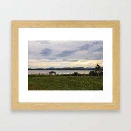 Rosa Sunset  Framed Art Print