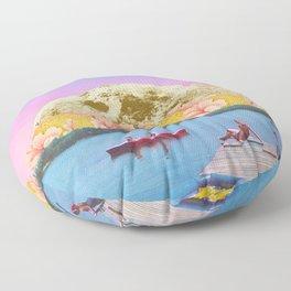 Pink lake Floor Pillow