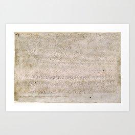 The Magna Carta 0f 1215 Art Print