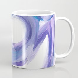 Wind on the City --  Abstract painting in modern lavender purple with hints of bright blue Coffee Mug