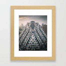 Modern Pyramid Framed Art Print