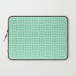 Basketweave (White & Mint Pattern) Laptop Sleeve