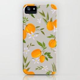 Gray kumquat iPhone Case
