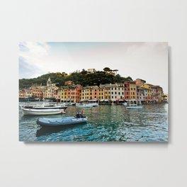 Portofino Boats Metal Print