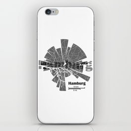 Hamburg Map iPhone Skin