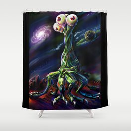 Three Eyed Dancer Shower Curtain