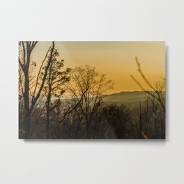 Sunset in the foothills Metal Print