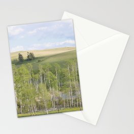 Lake and trees landscape Stationery Cards