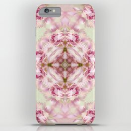 bouquet tulips in blue vase  (pattern/pillow) iPhone Case