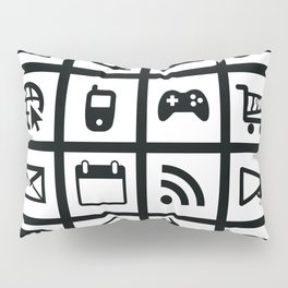 Web Icons Pillow Sham