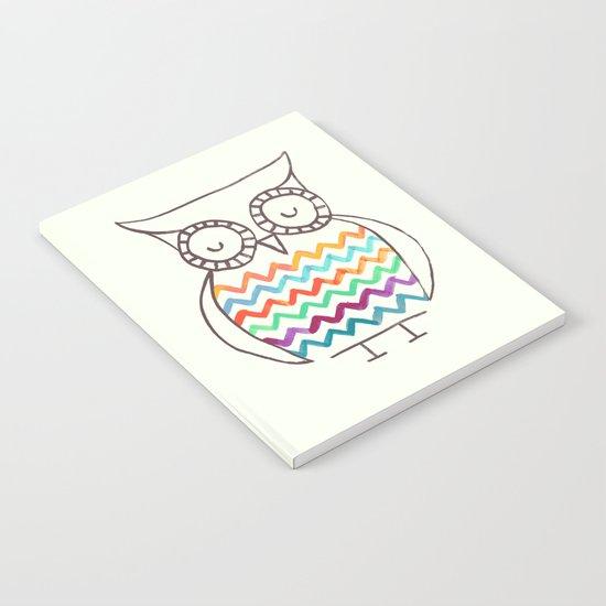 Chevron Owl Notebook