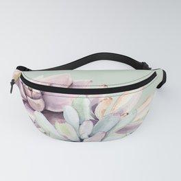 Beautiful Mint Succulents Fanny Pack