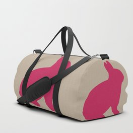 Giant Pink Bunny Duffle Bag