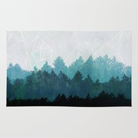 forest Area & Throw Rugs featuring Woods Abstract  by Mareike Böhmer