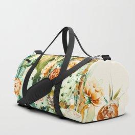 Succulent flowered cactus Duffle Bag