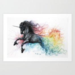 Unicorn dissolving Art Print