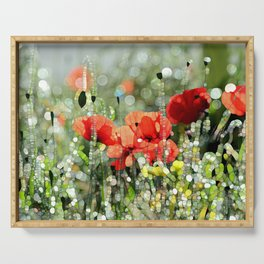 Poppy Mosaic Serving Tray