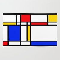 mondrian Area & Throw Rugs featuring Mondrian by The Wellington Boot
