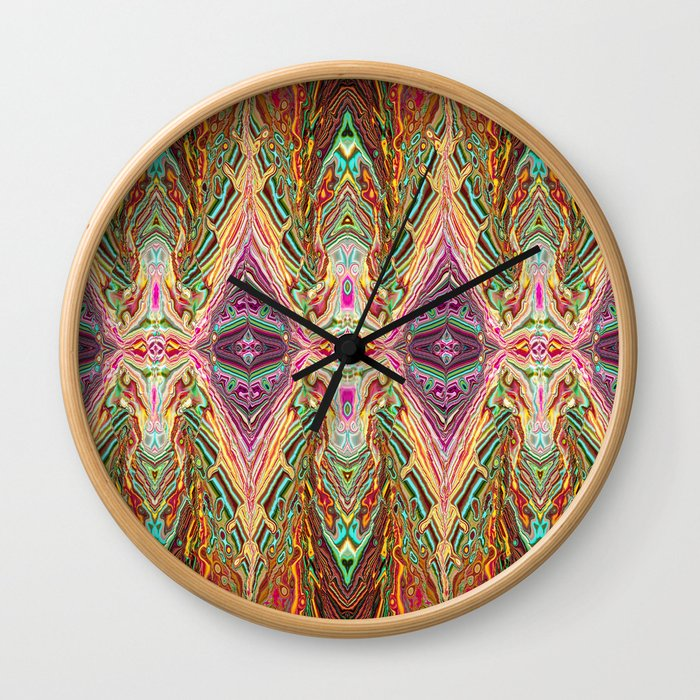 Digital Art: Abstract - Rediscover Wall Clock