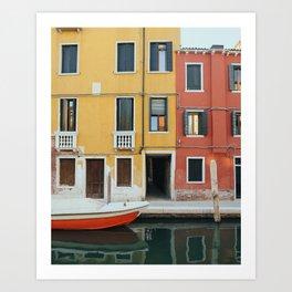 Venice Colours Art Print