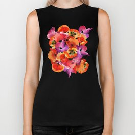 Poppies for Fun Biker Tank