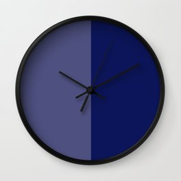 Two Tone Kobalt Blue Still Blessed Home & Office Decor Prints Wall Clock