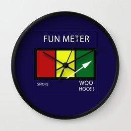 Fun Meter Wall Clock