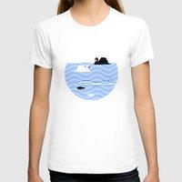 black swan T-shirts featuring Black Swan White Swan by Studio Su